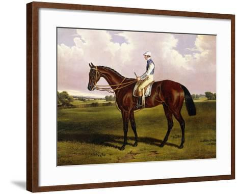 Bloomsbury, a Chestnut Racehorse with Sam Templeman Up, in a Landscape-Alfred de Prades-Framed Art Print