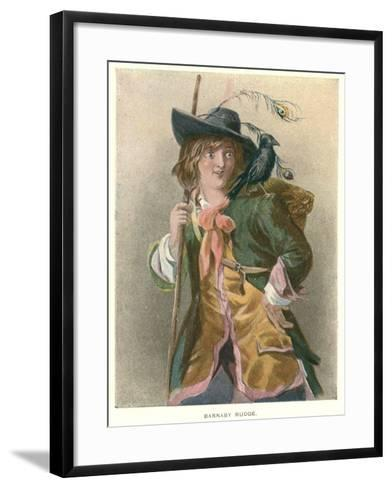 Barnaby Rudge, Illustration for 'Barnaby Rudge' by Charles Dickens-Thomas Sibson-Framed Art Print