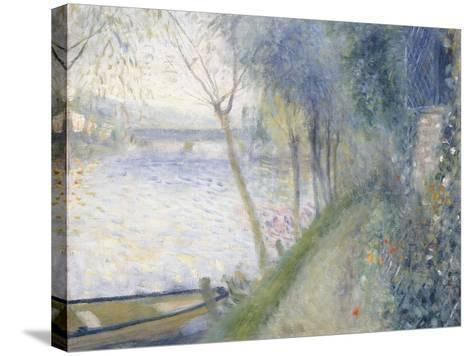 Landscape at the Edge of the Seine with the Pont D'Argenteuil-Pierre-Auguste Renoir-Stretched Canvas Print