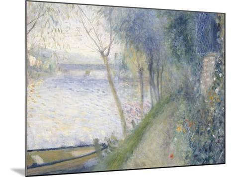 Landscape at the Edge of the Seine with the Pont D'Argenteuil-Pierre-Auguste Renoir-Mounted Giclee Print