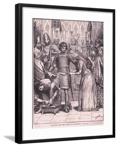 Initiation into the Order of Knighthood Circa Ad 1085-Henry Marriott Paget-Framed Art Print