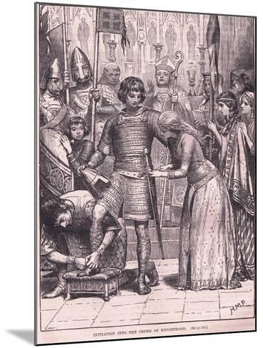 Initiation into the Order of Knighthood Circa Ad 1085-Henry Marriott Paget-Mounted Giclee Print