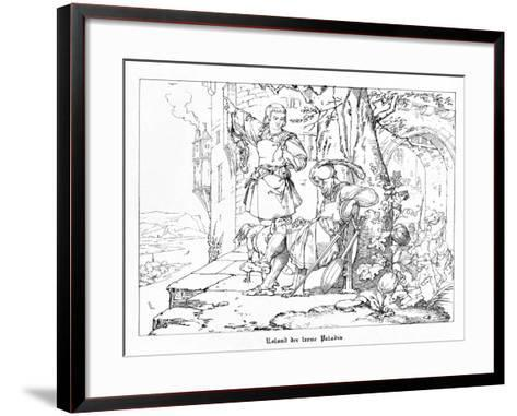 Roland, the Faithful Paladin, Engraved by J. Dielmann-Alfred Rethel-Framed Art Print