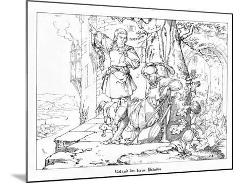 Roland, the Faithful Paladin, Engraved by J. Dielmann-Alfred Rethel-Mounted Giclee Print