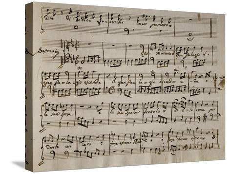 Sheet Music of Andromaca, 1730-Benedetto Marcello-Stretched Canvas Print