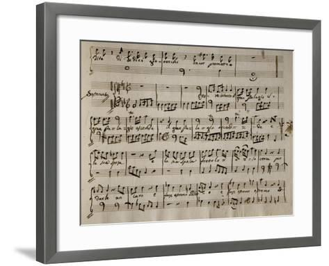 Sheet Music of Andromaca, 1730-Benedetto Marcello-Framed Art Print