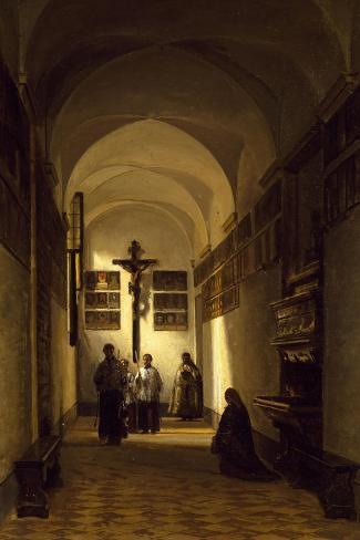 Interior of San Rocco Church in Parma-Luigi Marchesi-Stretched Canvas Print