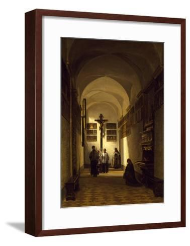 Interior of San Rocco Church in Parma-Luigi Marchesi-Framed Art Print