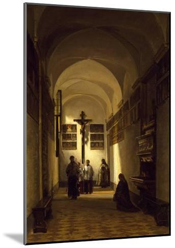Interior of San Rocco Church in Parma-Luigi Marchesi-Mounted Giclee Print