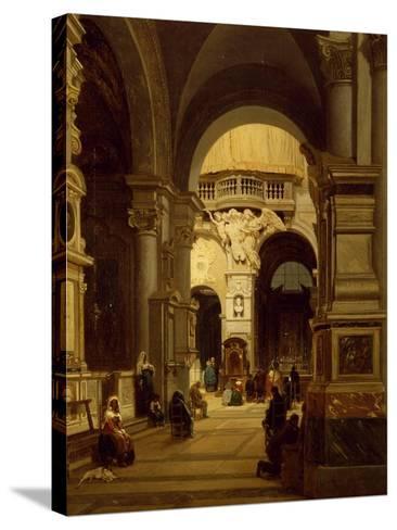 Santa Maria Del Popolo Church in Rome-Luigi Marchesi-Stretched Canvas Print