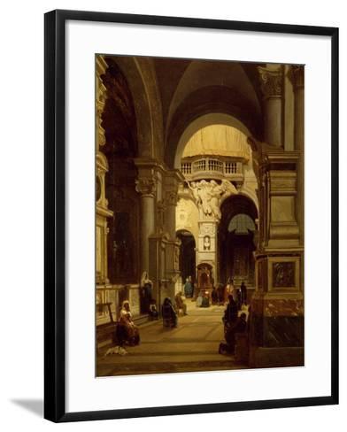 Santa Maria Del Popolo Church in Rome-Luigi Marchesi-Framed Art Print