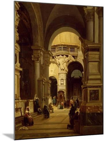 Santa Maria Del Popolo Church in Rome-Luigi Marchesi-Mounted Giclee Print