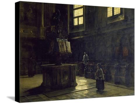 Choir of the St John's Church in Parma, 1873-Salvatore Marchesi-Stretched Canvas Print