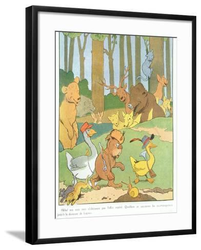 Illustration for the Album 'Gedeon, Chief of the Thieves'-Benjamin Rabier-Framed Art Print