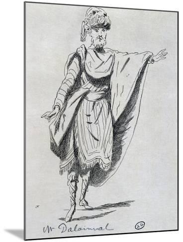 Actor Dalainval in Role of Nawab in Athalie-Jean Racine-Mounted Giclee Print