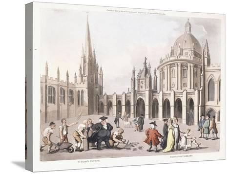St. Mary's Church and Radclivian Library, 1809-1811-Thomas Rowlandson-Stretched Canvas Print