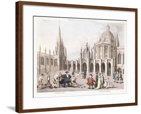 St. Mary's Church and Radclivian Library, 1809-1811-Thomas Rowlandson-Framed Art Print
