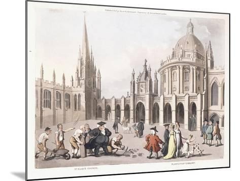 St. Mary's Church and Radclivian Library, 1809-1811-Thomas Rowlandson-Mounted Giclee Print