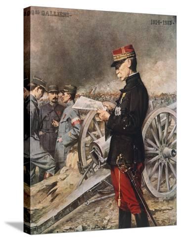 French General Joseph-Simon Gallieni, 1916-Ferdinand Roybet-Stretched Canvas Print
