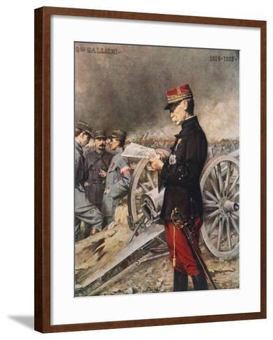 French General Joseph-Simon Gallieni, 1916-Ferdinand Roybet-Framed Art Print