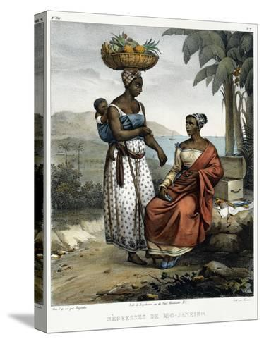 Negro Women of Rio-Janeiro, from 'Picturesque Voyage to Brazil', 1835-Johann Moritz Rugendas-Stretched Canvas Print
