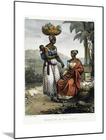Negro Women of Rio-Janeiro, from 'Picturesque Voyage to Brazil', 1835-Johann Moritz Rugendas-Mounted Giclee Print