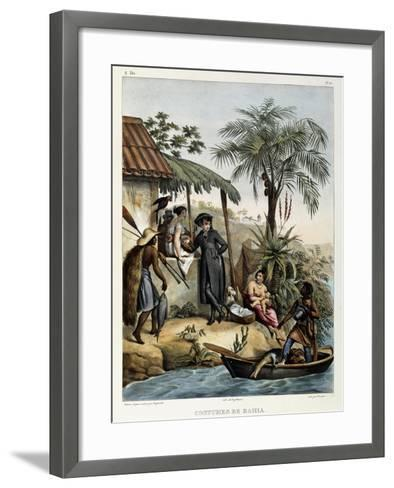 Costumes of Bahia, from 'Picturesque Voyage to Brazil', 1835-Johann Moritz Rugendas-Framed Art Print