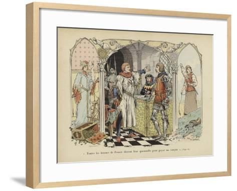 """All the Women of France Will Spin their Distaffs to Pay My Ransom""-Paul de Semant-Framed Art Print"