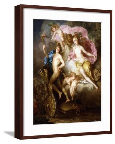 The Triumph of Venus and Cupid with Cupid's Chariot-Johann Georg Platzer-Framed Art Print
