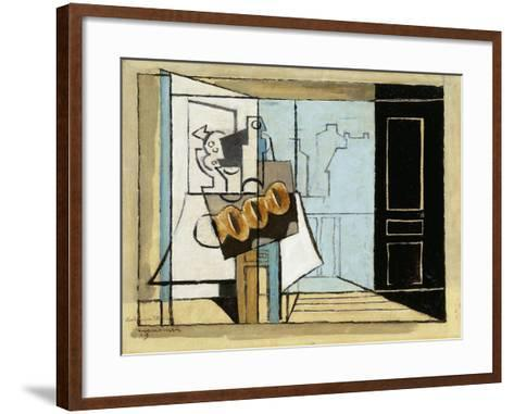 Monday, the Open Window; Lundi, La Fenetre Ouverte, 1929-Louis Marcoussis-Framed Art Print