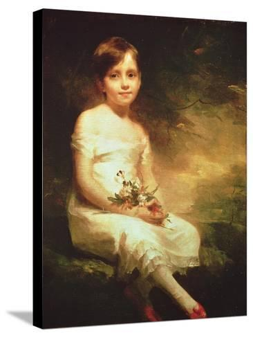 Little Girl with Flowers or Innocence, Portrait of Nancy Graham-Sir Henry Raeburn-Stretched Canvas Print