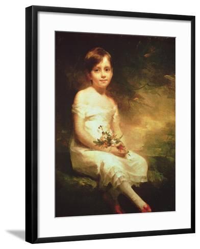 Little Girl with Flowers or Innocence, Portrait of Nancy Graham-Sir Henry Raeburn-Framed Art Print