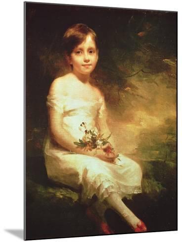 Little Girl with Flowers or Innocence, Portrait of Nancy Graham-Sir Henry Raeburn-Mounted Giclee Print