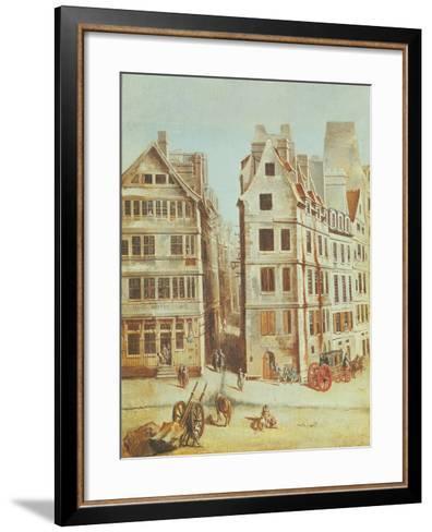 The Cabaret 'A L'Image Notre-Dame', Place De Greve in 1751-Nicolas Jean Baptiste Raguenet-Framed Art Print