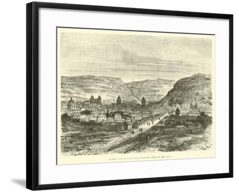 General View of Cuzco, from Iscaypampa, Plain of the Thorn-?douard Riou-Framed Art Print