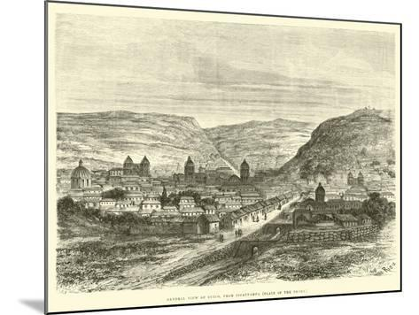 General View of Cuzco, from Iscaypampa, Plain of the Thorn-?douard Riou-Mounted Giclee Print
