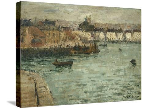 In Front of the Port of Dieppe; Avant Porte De Dieppe, 1918-1920-Gustave Loiseau-Stretched Canvas Print