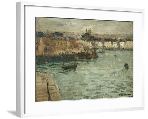 In Front of the Port of Dieppe; Avant Porte De Dieppe, 1918-1920-Gustave Loiseau-Framed Art Print