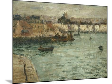 In Front of the Port of Dieppe; Avant Porte De Dieppe, 1918-1920-Gustave Loiseau-Mounted Giclee Print