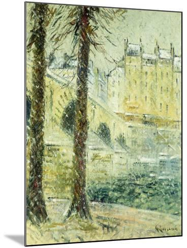 The Pont Marie in the Snow; Le Pont Marie, Effet De Neige, C.1926-Gustave Loiseau-Mounted Giclee Print
