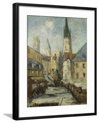 Rue De L'Epicerie Et La Cathedrale De Rouen, C.1929-Gustave Loiseau-Framed Art Print