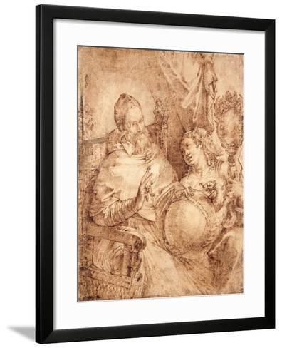 Portrait of Pope Gregory Xiii, Three-Quarter Length, Seated in an Armchair-Bartolomeo Passarotti-Framed Art Print