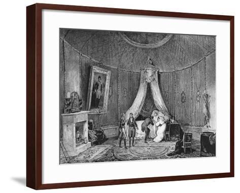 Death of Joséphine De Beauharnais on 29th May 1814, 1829-Jean Louis Tirpenne-Framed Art Print