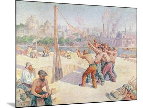 Workers on the Quai De La Seine at Billancourt, 1902-3-Maximilien Luce-Mounted Giclee Print