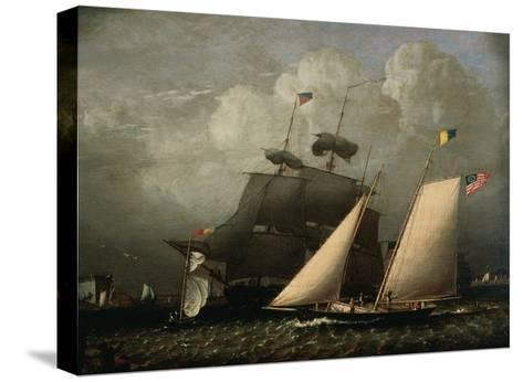 Picture of 'The Dream' Pleasure Yacht, 1839-Robert Salmon-Stretched Canvas Print
