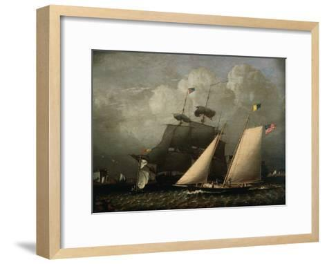 Picture of 'The Dream' Pleasure Yacht, 1839-Robert Salmon-Framed Art Print