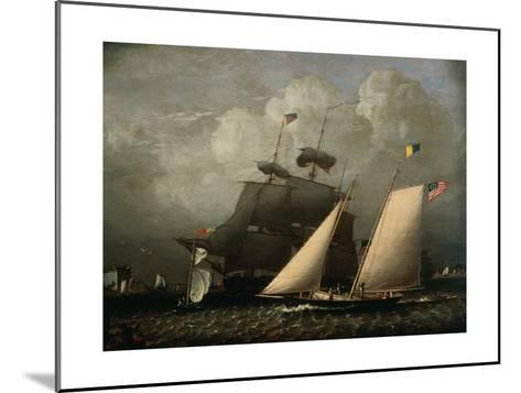 Picture of 'The Dream' Pleasure Yacht, 1839-Robert Salmon-Mounted Giclee Print