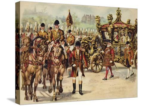 Coronation Procession of King George V, 22 June 1911-Henry Payne-Stretched Canvas Print