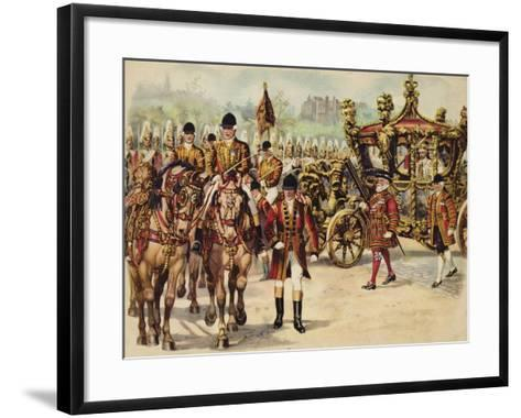 Coronation Procession of King George V, 22 June 1911-Henry Payne-Framed Art Print