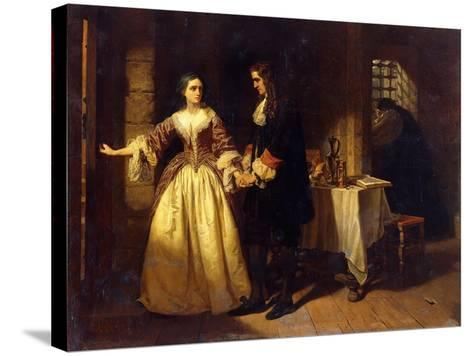The Parting of Lord William and Lady Rachel Russell in 1683-Charles Lucy-Stretched Canvas Print